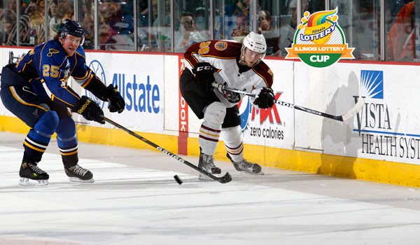Right wing Nicklas Jensen. Photo: Ross Dettman/Chicago Wolves