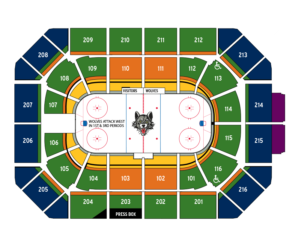 seating chart pricing chicago allstate arena chicago wolves