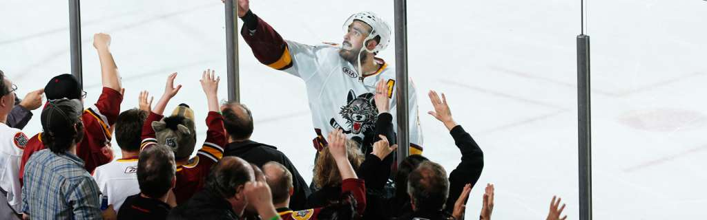 Front row Chicago Wolves