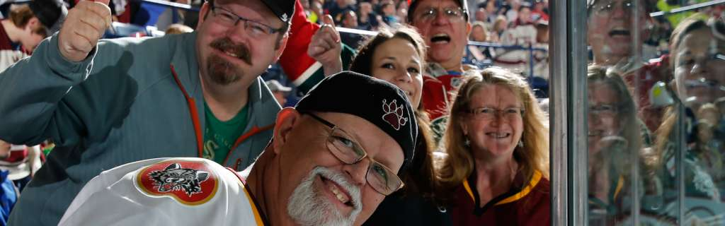 Chicago Wolves hockey fans