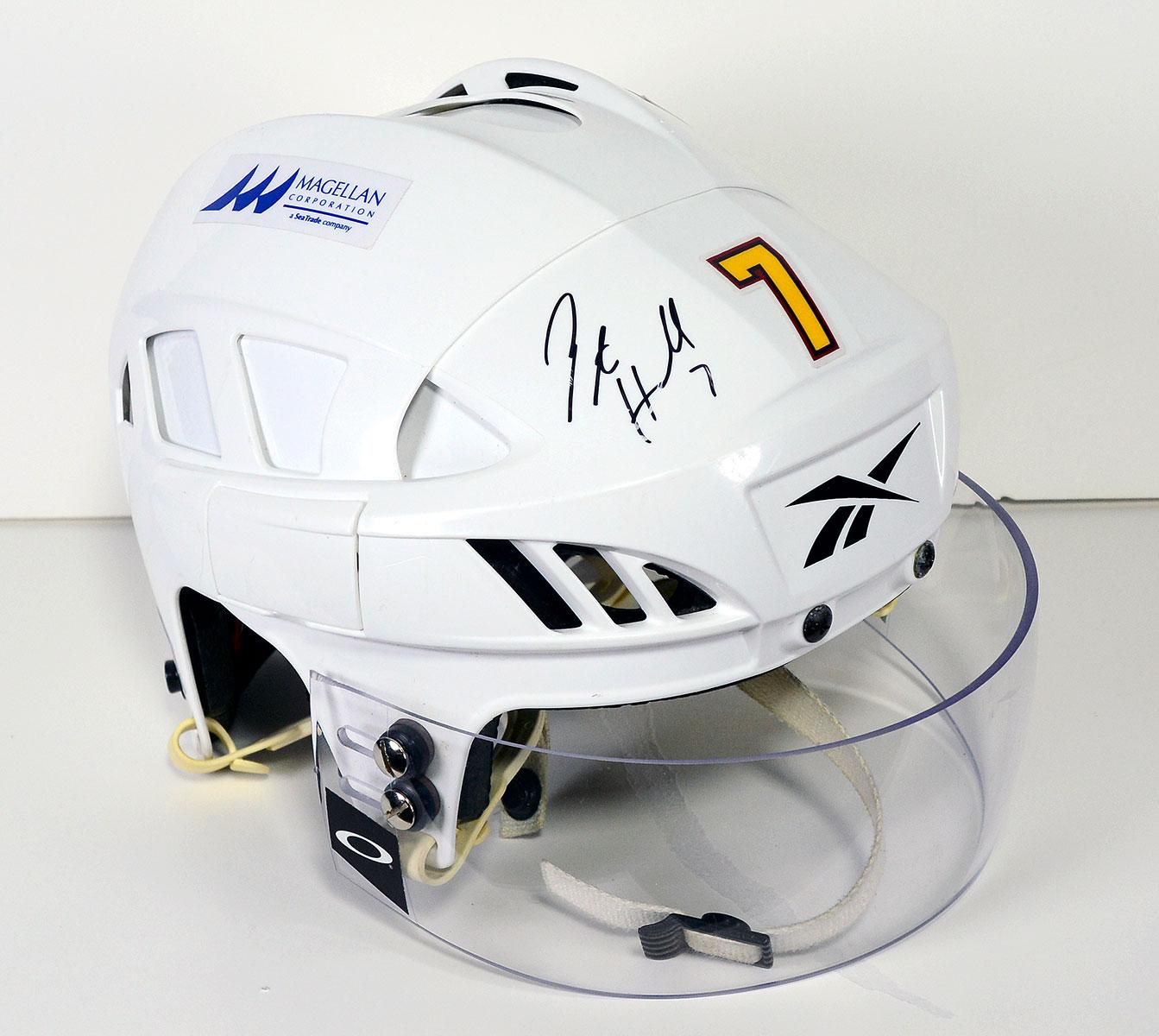 #7 Peter Harrold Game-Worn Autographed Helmet