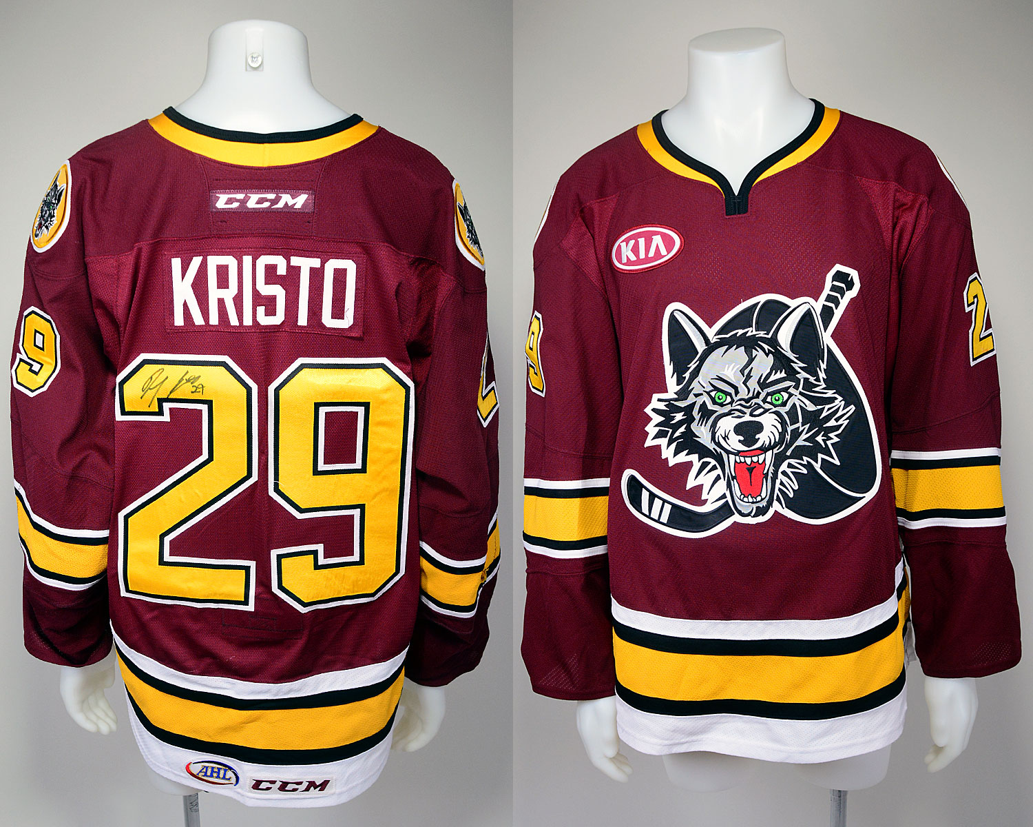 #29 Danny Kristo Game-Worn Autographed Burgundy Jersey