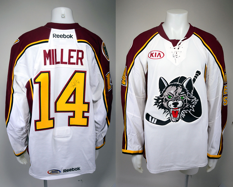 #14 Tim Miller Game-Worn Autographed Alternate Jersey
