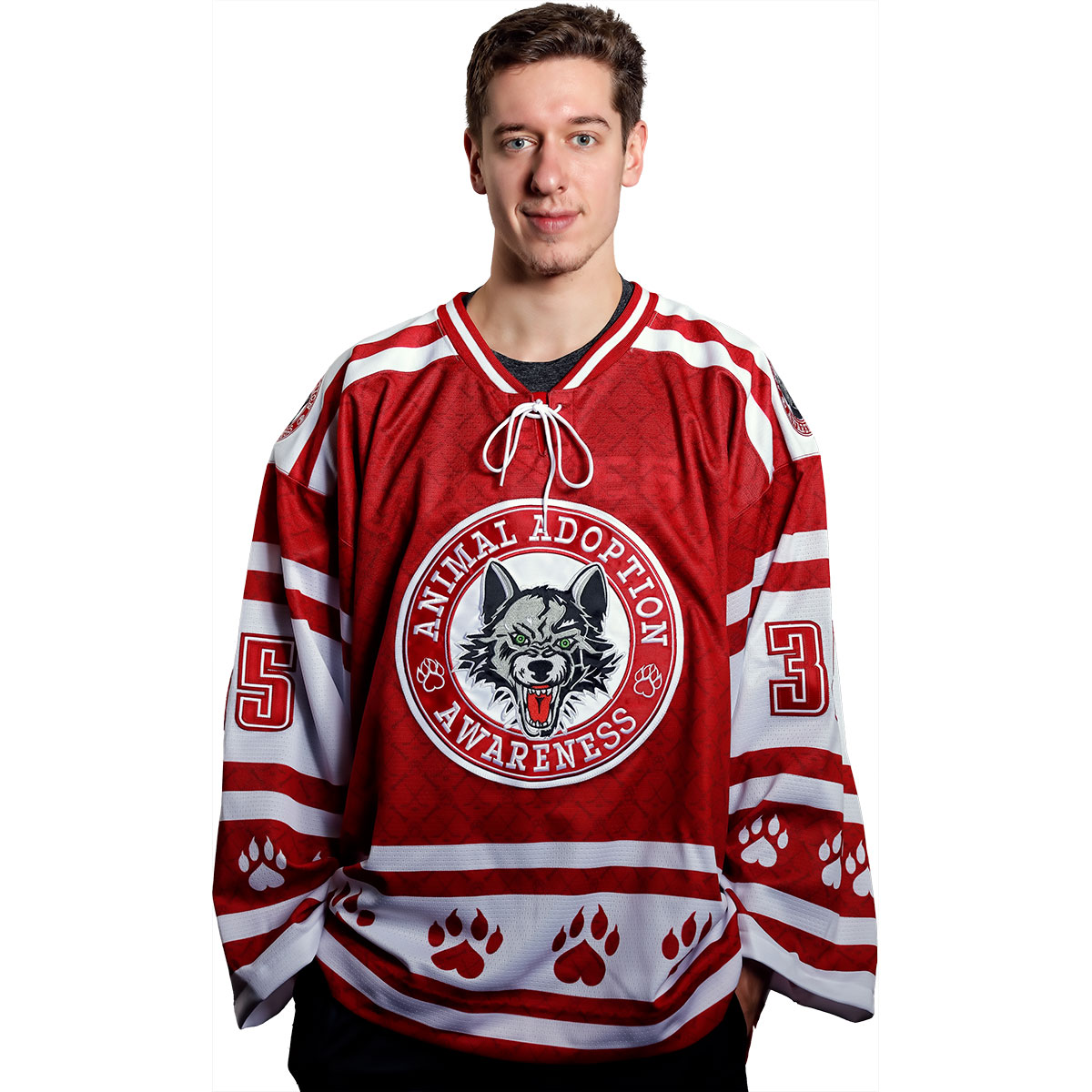 #35 Jordan Binnington Animal Adoption Awareness Jersey
