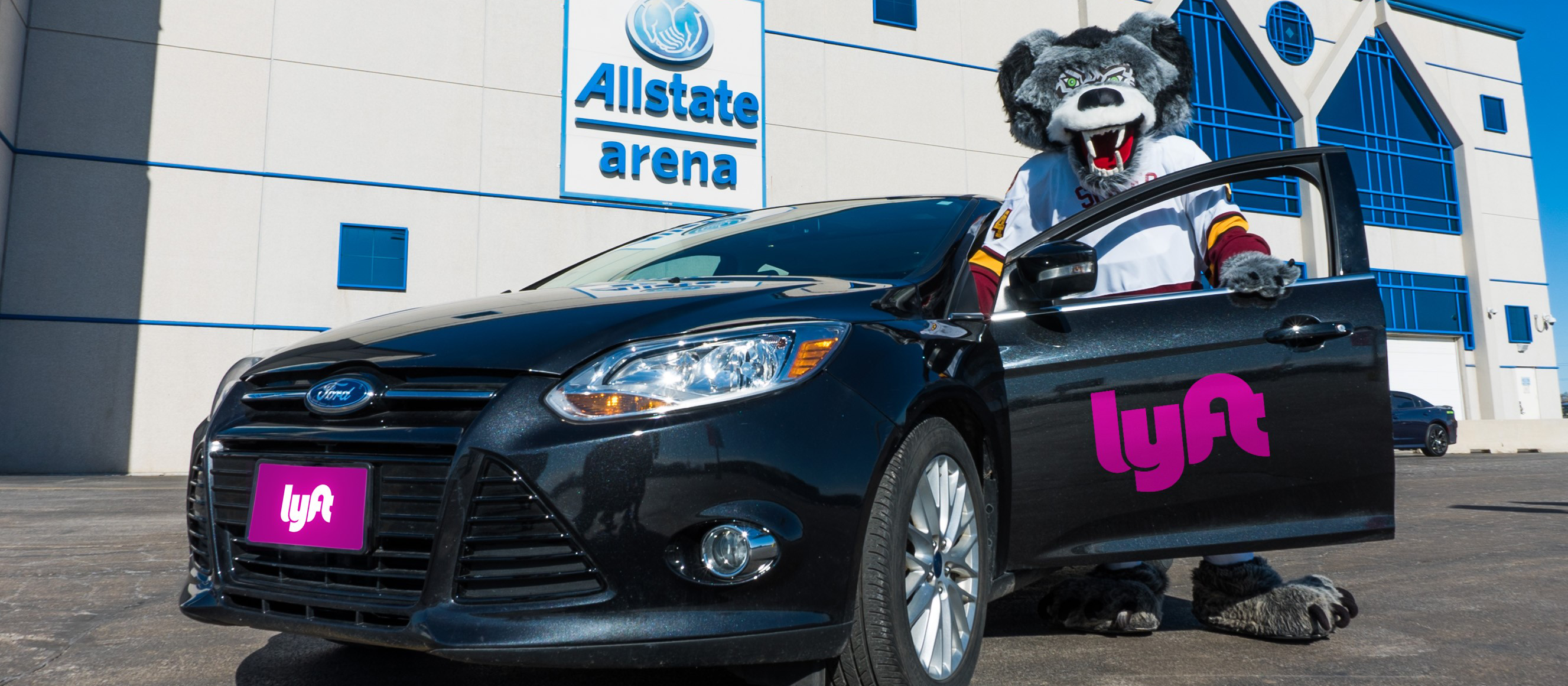 Allstate Arena and Chicago Wolves name Lyft as ficial Rideshare Partner Chicago Wolves